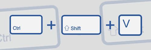 ctrl-shift-v