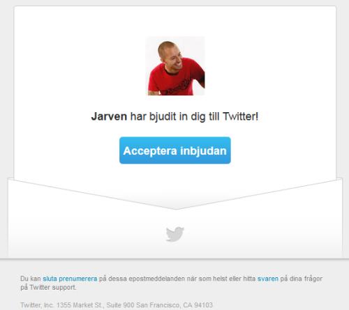 Twitter inbjudan