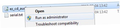 Kör som administrator